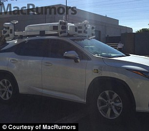One of Apple's self-driving test cars, called 'The Thing,' was spotted by some onlookers late last year.
