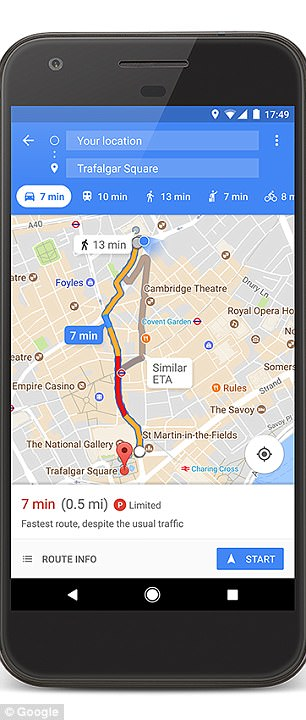 Along with the new feature to locate parking, Google has also updated the parking difficulty icons it added to Maps in January 2017. Maps uses historical parking data and machine learning to indicate the parking difficulty as 'limited,' 'medium' and 'easy'