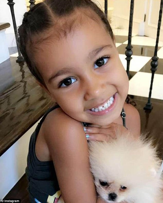 Presidential material: Kim Kardashian in a magazine interview said her daughter North West, shown in June on Instagram, could run the country better than President Donald Trump