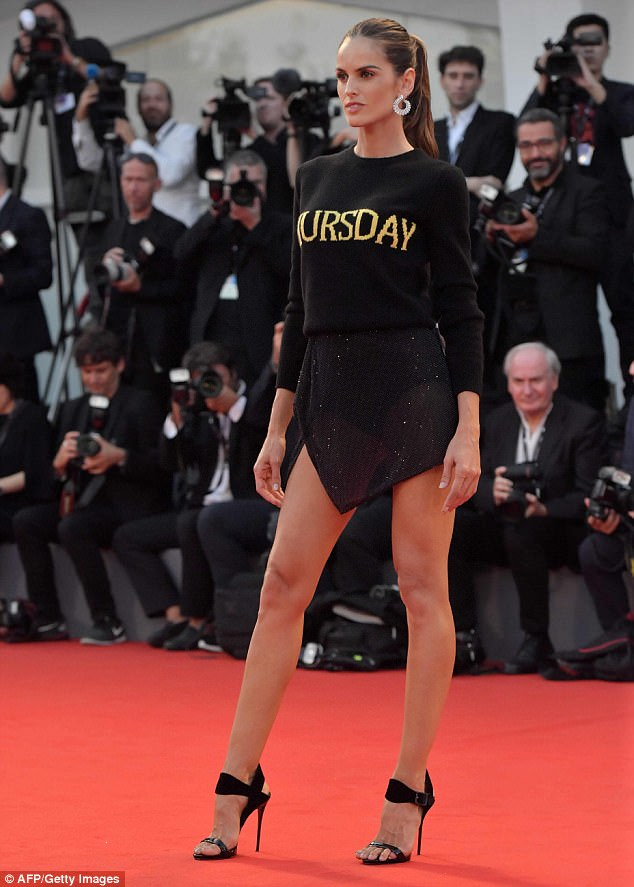 Here she comes: Izabel Goulart commanded attention as she made her latest appearance at the 74th annual Venice Film Festival on Thursday evening
