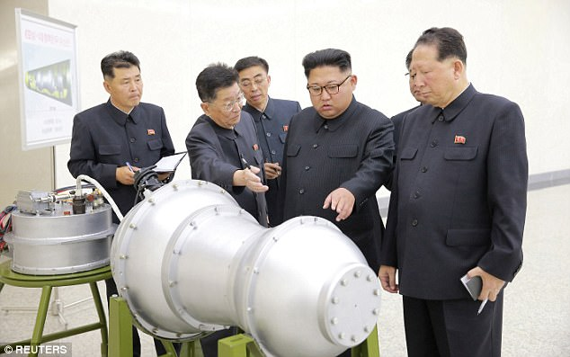 On Saturday night EST, North Korea released this photo showing Kim Jong-Un and what appeared to be a nuclear warhead. Soon after, it detonated a 100kt bomb underground