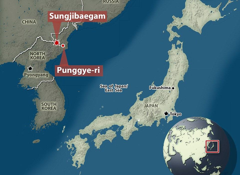 Yonhap, la agencia de noticias oficial de Corea del Sur, informa del terremoto en el que se encuentra el sitio de pruebas nucleares de Corea del Norte, Punggye-ri