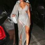 Mel B Dons Sheer Sparkly Dress in Los Angeles