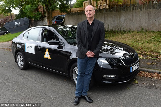 Dr O'Keefe earned £12,000 in his first year as an Uber driver, a significant drop from his old £95,000 salary