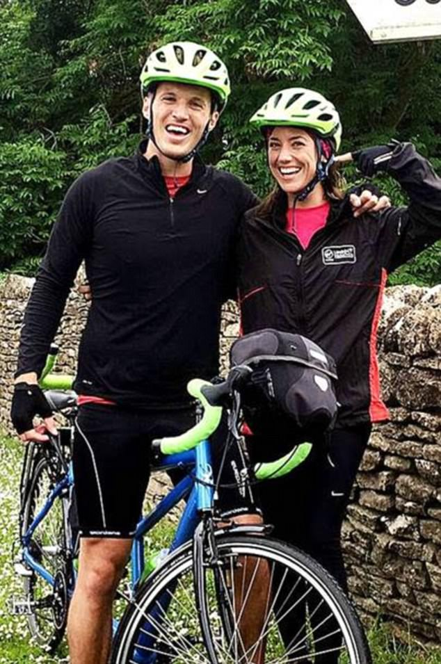 The couple went on a 2,000km tandem bike ride from London to Copenhagen for charity