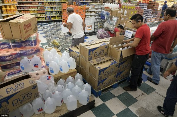 Miami residents buy supplies to be prepared for Hurricane Irma in Miami, Florida on Wednesday