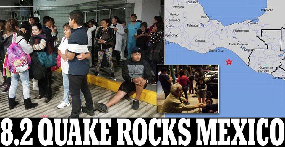 Massive 8.2 magnitude earthquake recorded in Mexico