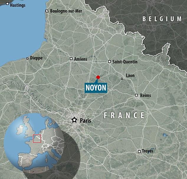El tiroteo tuvo lugar en la estación de tren de Noyon en la ciudad francesa del norte de Oise