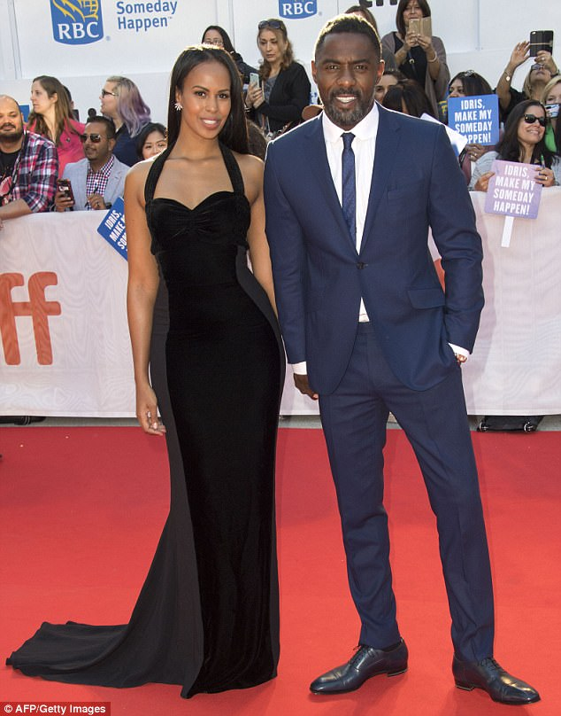 Latest romance: Idris Elba with his girlfriend former Miss Vancouver Sbarina Dhowre