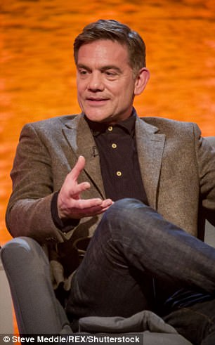 Her father (pictured on the Alan Titchmarsh Show in 2014) has also appeared in Taggart and Casualty
