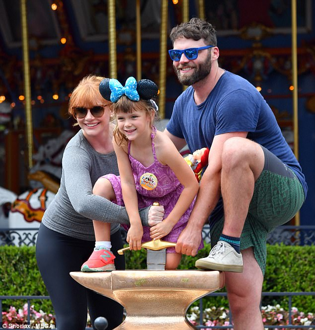 Bryce Dallas Howard Spends Magical Day At Disneyland