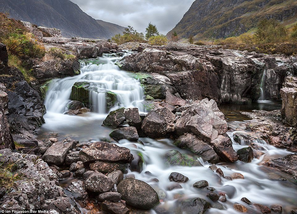 Rugged landscape: The rapid waters of the River Cowe in Glencoe captured by Ian Finlayson, from Glasgow
