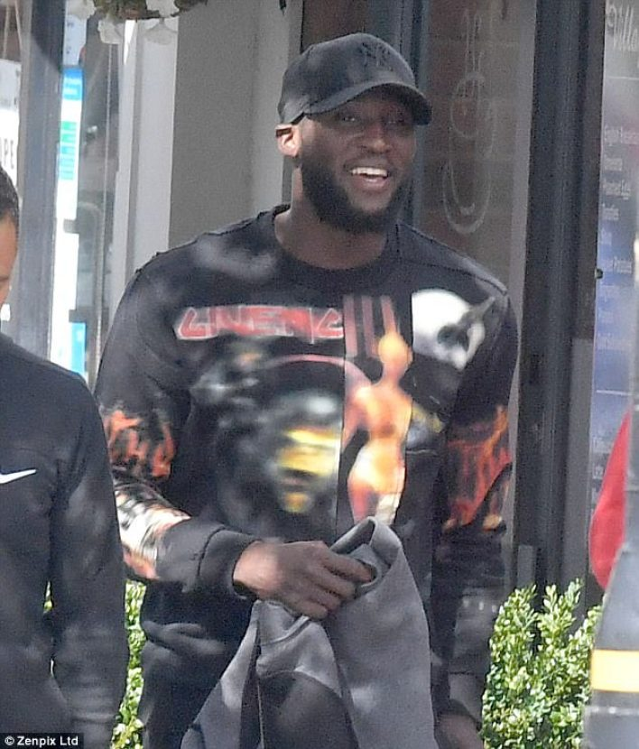 Romelu Lukaku was all smiles as he enjoyed lunch out in Cheshire the day after the Basle game