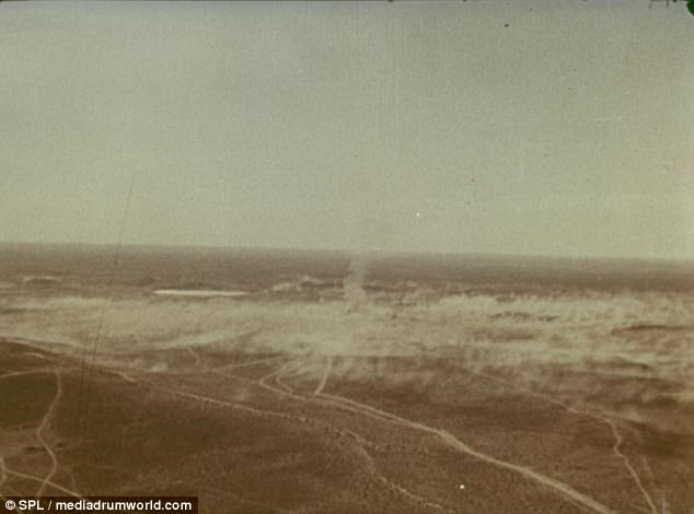 Boom: The 30 kiloton nuclear warhead was detonated several thousand feet below the surface