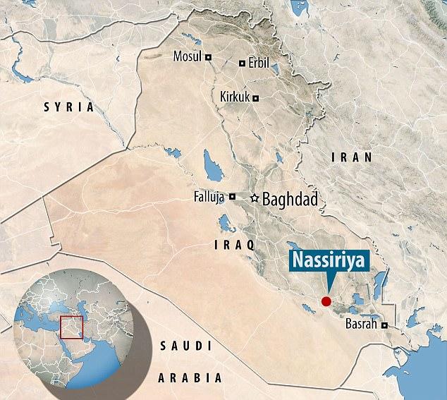 Ataque: Los atentados se produjeron en Nassiriya, en la provincia rica en petróleo de Dhi Qar, en Irak