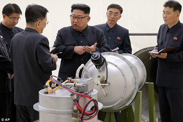 North Korea's leader Kim Jong-un (pictured) has overseen dozens of controversial missile tests