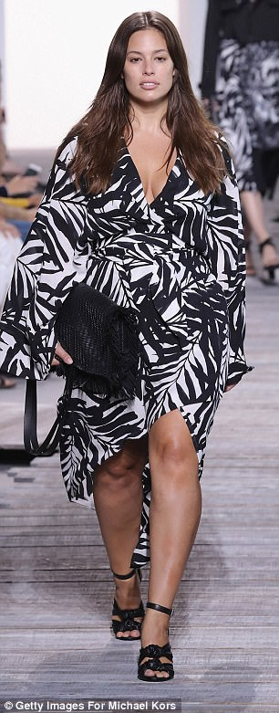 Diversity: Ashley also walked the runway for Michael Kors (pictured) and Prabal Garung