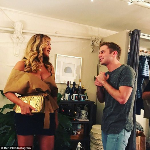 Plenty to talk about:Beyoncé also chatted with leading man Ben Plat