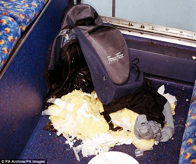 This was one of the failed bombs in the 21/7 attacks, with explosive substances left on the floor of a London bus when the device failed to properly detonate