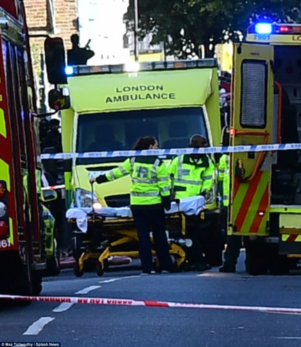 Emergency services were at the scene within minutes of the terror attack
