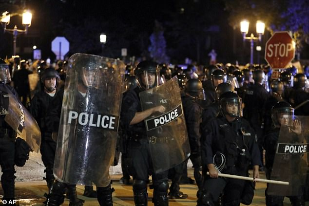 Some 200 riot police were dispatched to the neighborhood where the mayor lives and dispersed the crowd