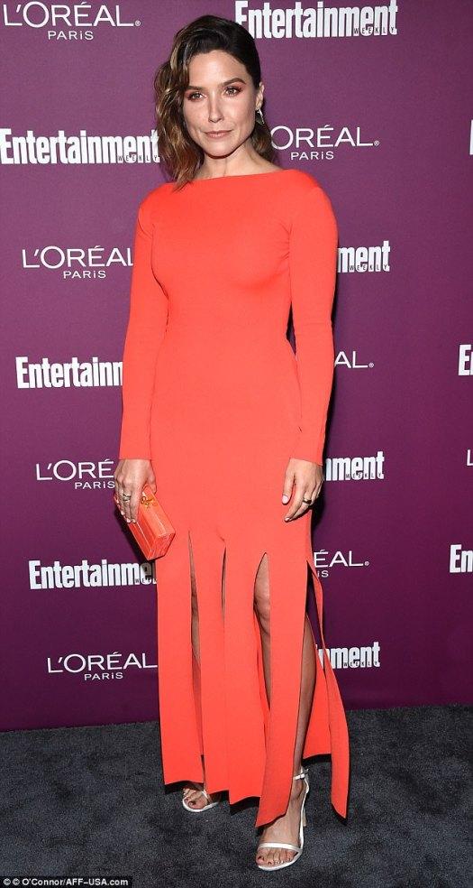 Scorching:As bright as the sun, Sophia Bush dazzled in an orange ensemble