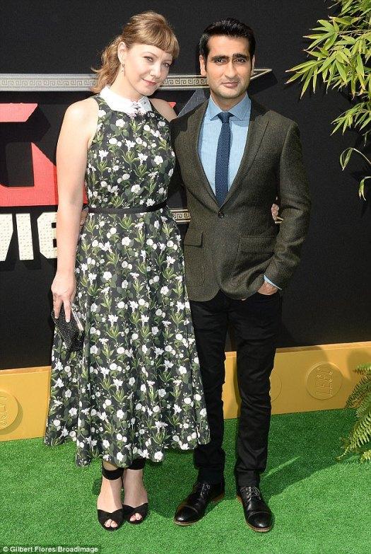 Cute couple hit the fake grass: Kumail Nanjiani and date