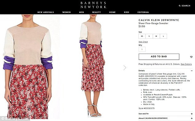 Barneys has even managed to make it not look as revealing matching it with an interesting floral skirt