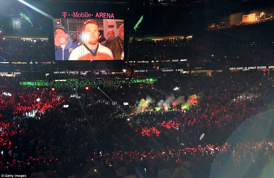 Alvarez took his time walking out as his large and expectant fanbase waited for him to appear from the backstage area