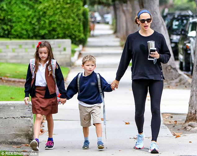 Pictured Wednesday: Ben and his estranged wife - Golden Globe-winning actress Jennifer Garner - filed legal documents in April following their 2015 separation after a decade-long marriage and three children