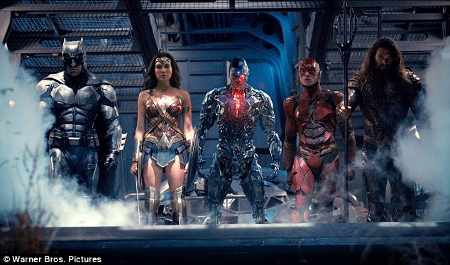 'He's finding hope again': The Live By Night director will then reprise his role as Bruce 'Batman' Wayne in Justice League - hitting US/UK theaters November 17 - alongside (from L-R) Gal Gadot, Ray Fisher, Ezra Miller, and Gal Gadot