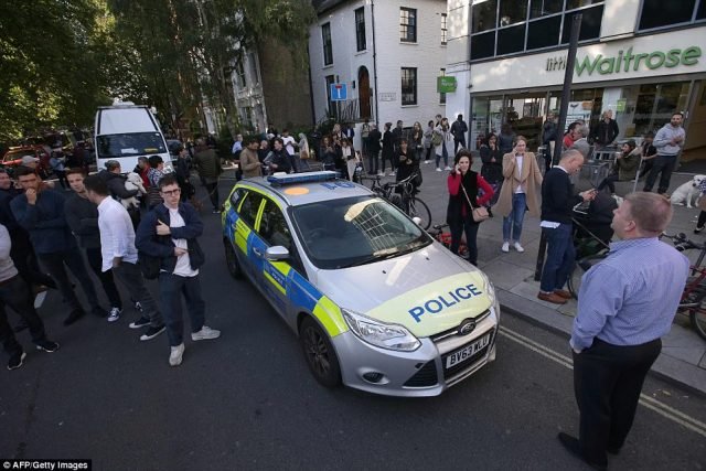 Armed Police, paramedics and firefighters were  at the west London station within five minutes of the explosion