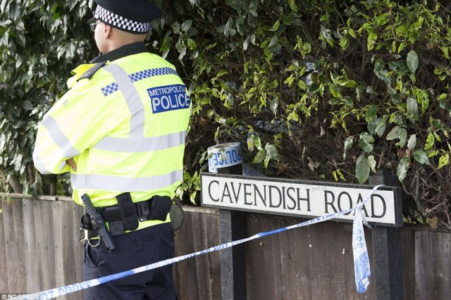 There is a heavy police presence around the area, where residents have been ordered to leave their homes as the investigation continues