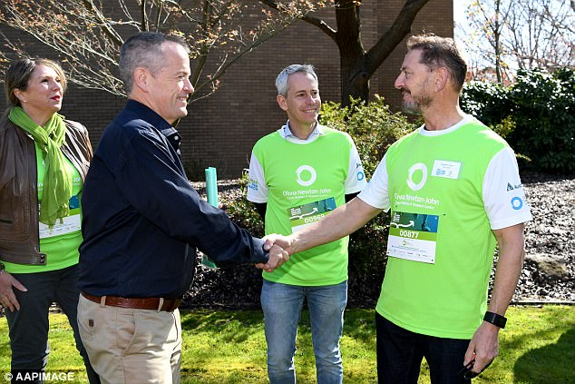 No politics: Federal opposition leader Bill Shorten also turned out for the event and took time to personally meet and greet runners