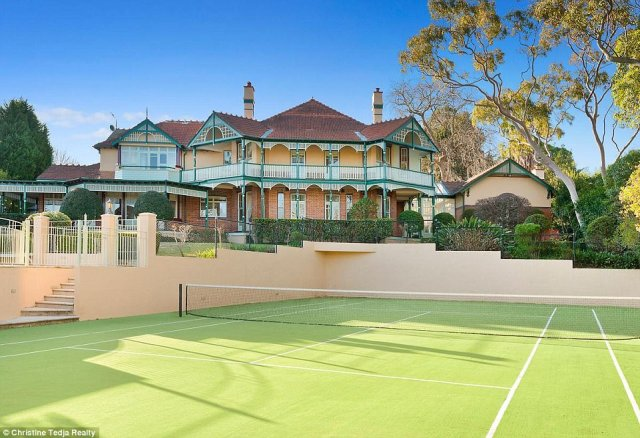 Stunning: There is also a self-contained quest quarters separate from the main house while the property boasts wide covered return verandahs and panoramic city views from the top floor