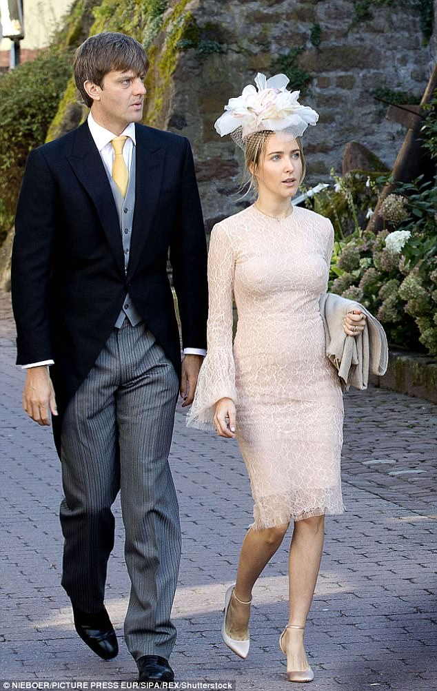 Erbprinz Ernst August von Hannover and his pregnant wife, fashion designer Prinzessin Ekaterina lef the arrivals. The couple tied the knot themselves just two months ago