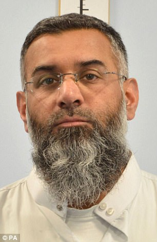 Hate preacher Anjem Choudary is held in a similar unit