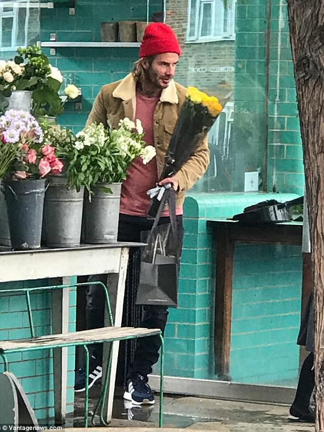 So sweet: He's known for his unconditional love for his daughter, Harper Seven, six. And David Beckham, 42, melted hearts as he bought flowers with his little girl in London on Sunday