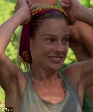 Yippee! The castaways were overjoyed that they'd made 'the merge'