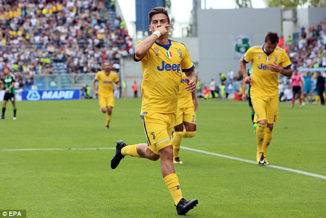 Paulo Dybala netted a hat trick to earn Juventus a 3-1 victory over Serie A stragglers Sassuolo