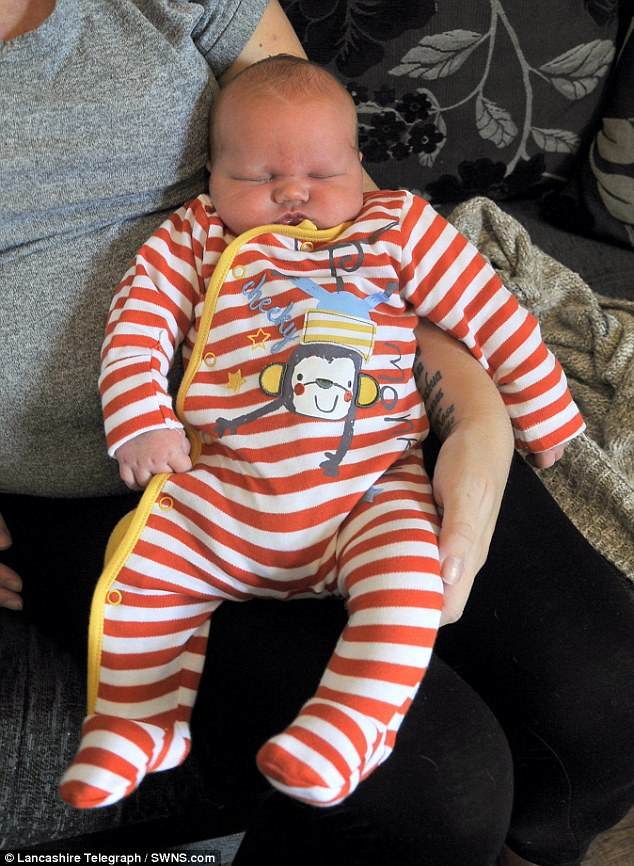 The tot doesn't take the title of Britain's biggest baby delivered naturally. That is thought to belong to baby George from Gloucester born in February 2013 who weighed an impressive 15lb 7oz
