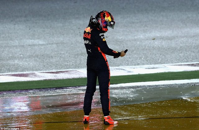 Verstappen looks on frustrated after being forced to retire for the seventh Grand Prix this season