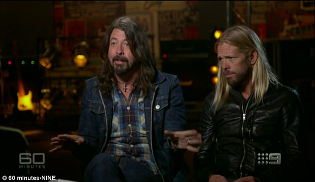 'They trash the backstage much worse than we ever did!' Dave Grohl andTaylor Hawkins joked about fatherhood during an appearance on Australia's 60 Minutes on Sunday