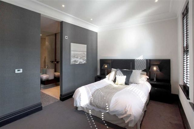 Whoever snaps up the home will have plenty of room for guests, with six large bedrooms and bathrooms located upstairs