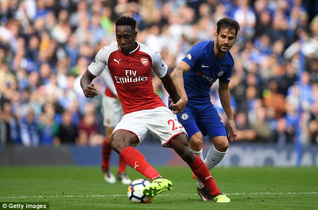 Danny Welbeck started the game but eventually limped off to be replaced by Olivier Giroud