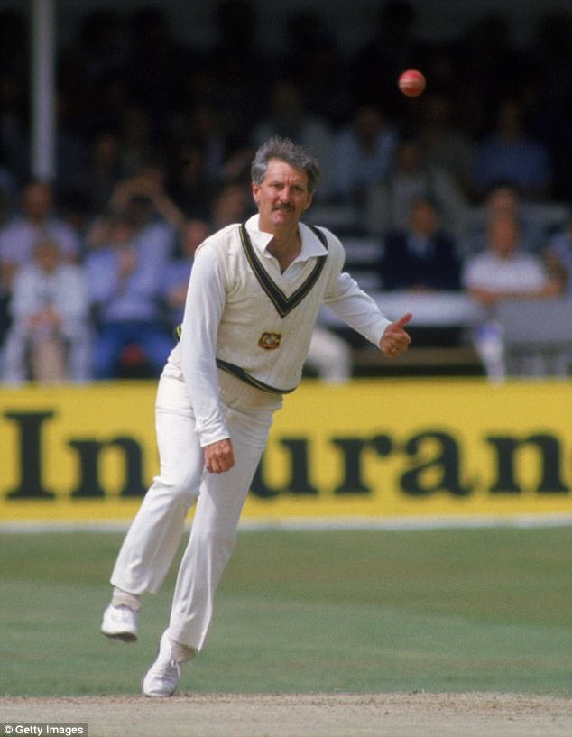 The cricketer continued playing for NSW until 1989 (pictured in June 1985), before continuing on in lower NSW grades with  Toronto Workers' Club, where he later served 16 as President