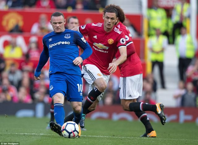Wayne Rooney made his first appearance as an opposition player at Old Trafford in 13 years and he played as the lone striker