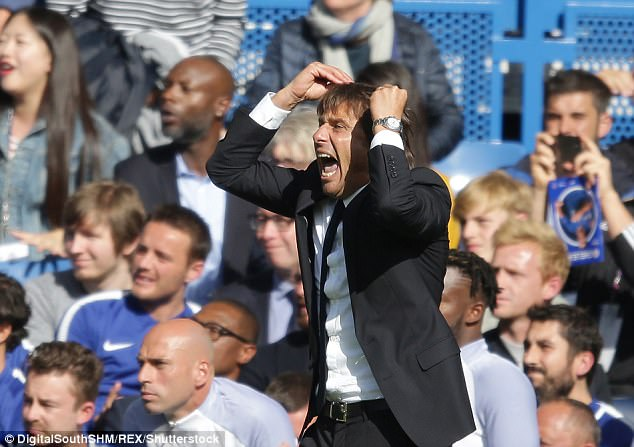 Conte's Chelsea have now received four red cards this season - three in the Premier League
