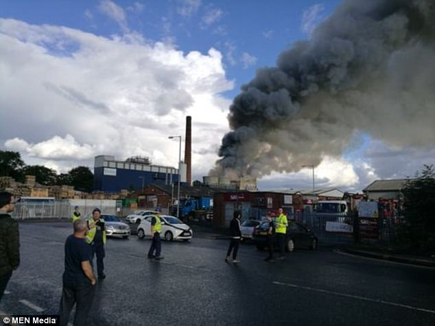 The fire broke out just before 5pm today at the Virtidor Works on the Raikes Lane Industrial Estate