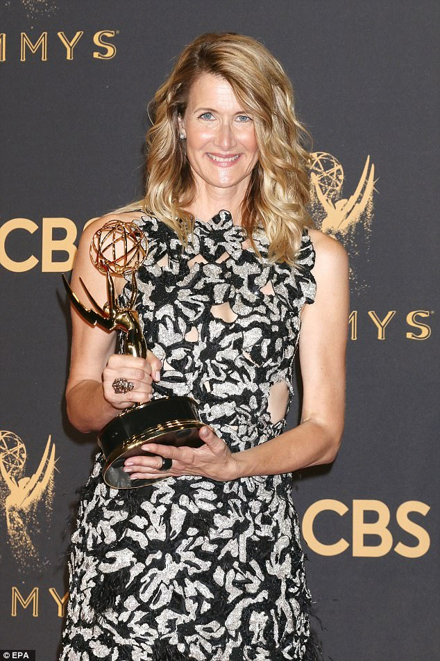 Golden girl: Co-star Laura Dern picked up Outstanding Supporting Actress after six Emmy nominations over the years
